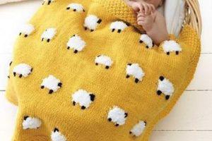 Las mantas tejidas para bebes con unos patrones adorables