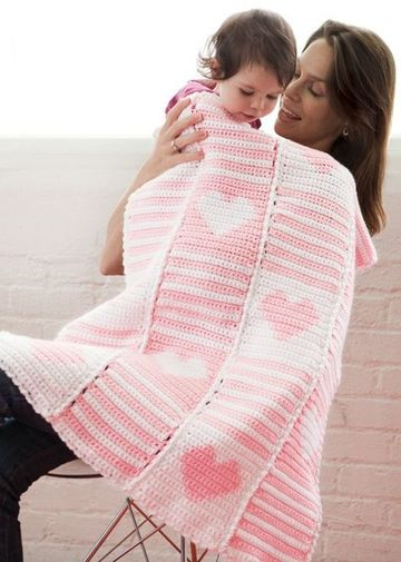 mantas tejidas para bebes niñas