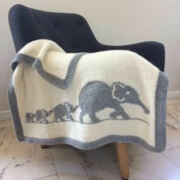 mantas tejidas para bebes niños