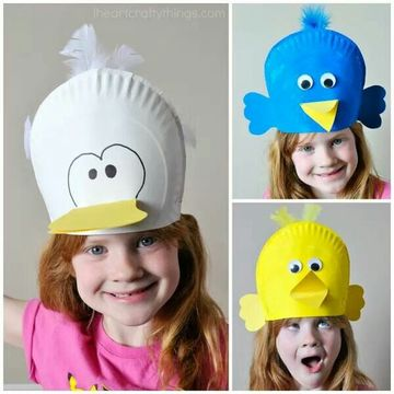 sombreros creativos para niños con material descartable