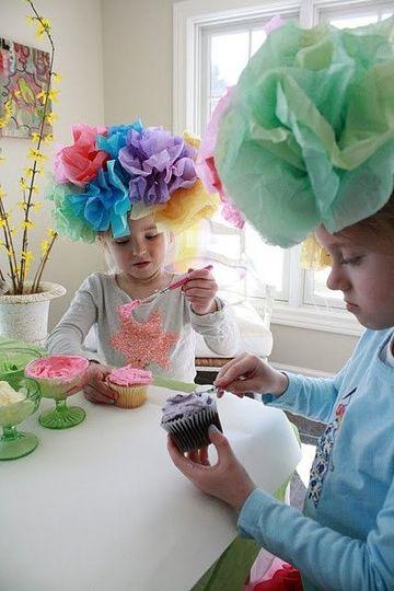 sombreros creativos para niños con papel