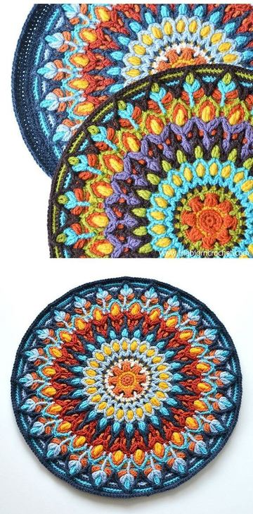 tejidos artesanales a crochet de colores
