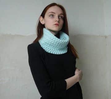 chalinas de lana para mujer sencillas