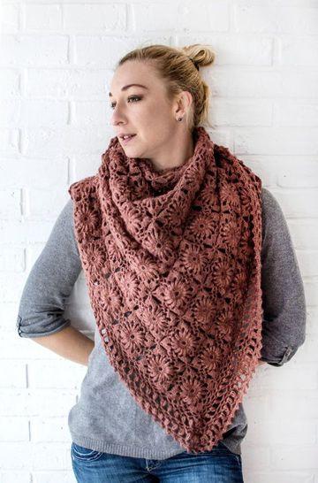 chalinas de lana para mujer tipo triangulo