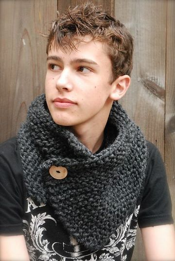 cuellos de lana para hombre con boton