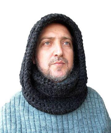 cuellos de lana para hombre con capucha