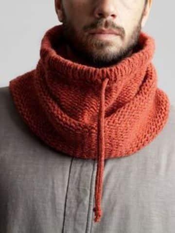 cuellos de lana para hombre con cordon