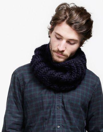 cuellos de lana para hombre tejidos