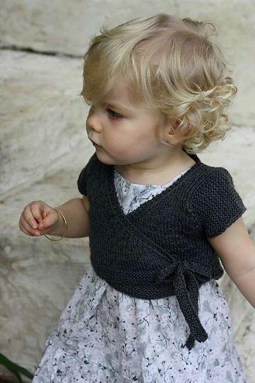 boleros a crochet para niña cruzados