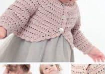 Diferentes y bellos modelos de boleros a crochet para niña