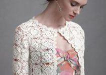 Boleros tejidos a crochet de diferentes estilos para dama