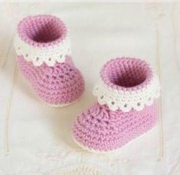 botitas a crochet para bebe hembra