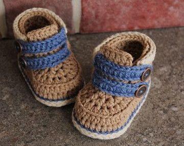 botitas a crochet para bebe varon
