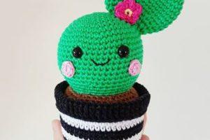 Adorables cactus tejidos a crochet para obsequiar y decorar
