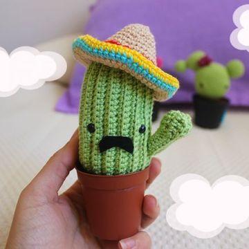cactus tejidos a crochet mexicano