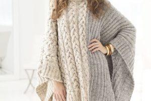 Chalinas tejidas a dos agujas para llevar este invierno 2018
