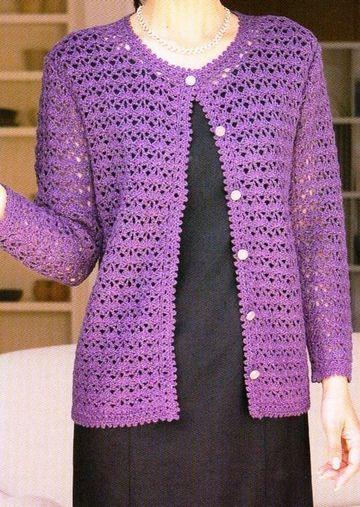 chompas tejidas a crochet para damas mayores
