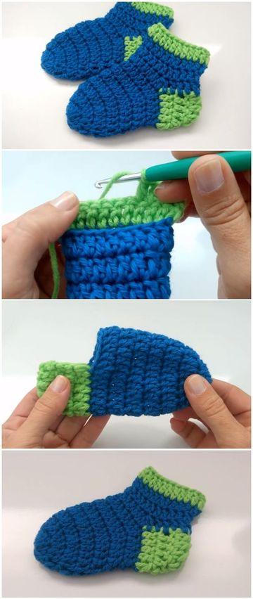 Como Hacer Calcetines A Crochet Para Los Más Pequeños
