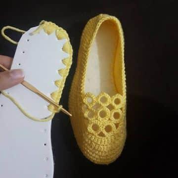 como hacer pantuflas a crochet faciles