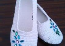 Como hacer zapatillas de ganchillo femeninas y fáciles