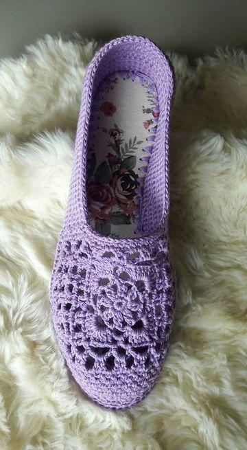 como hacer zapatillas de ganchillo para mujeres