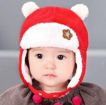 gorros con orejeras para niños de fibra polar