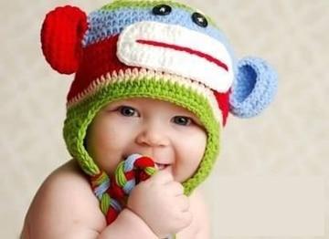 gorros con orejeras para niños tejidos