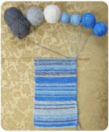 materiales para hacer una bufanda de lana