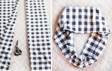 materiales para hacer una bufanda de tela