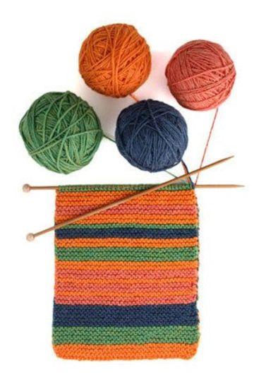 materiales para hacer una bufanda tejida