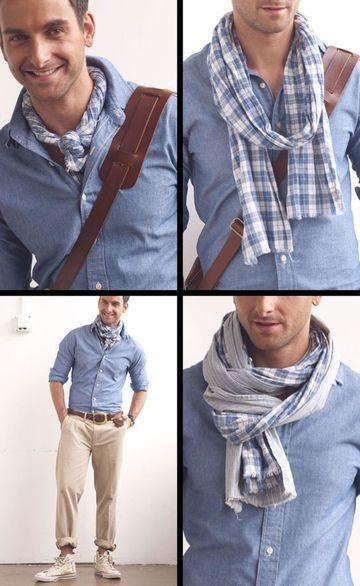 pañuelos de cuello para hombres y formas de utilizar