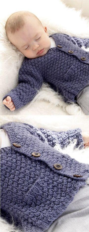 ropones para bebes a crochet con bolsillos