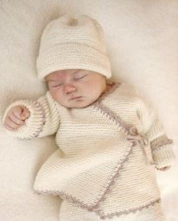 ropones para bebes a crochet cruzados
