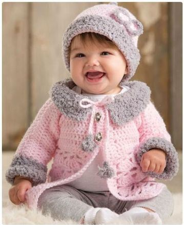 ropones para bebes a crochet modernos