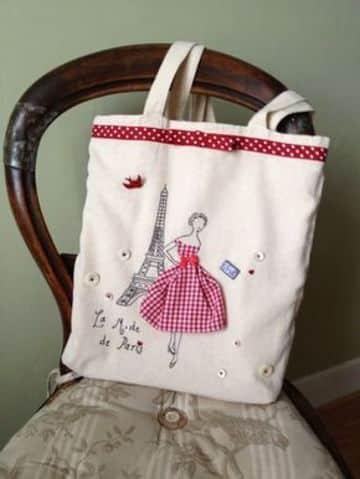 bolsas de tela decoradas con retazos