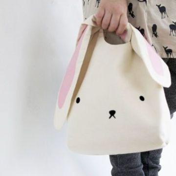 bolsas de tela para niños de conejo