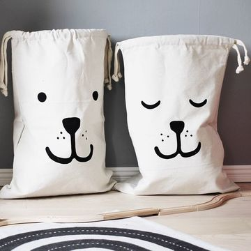 bolsas de tela para niños sencillas