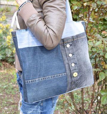 como hacer bolsos de jeans faciles