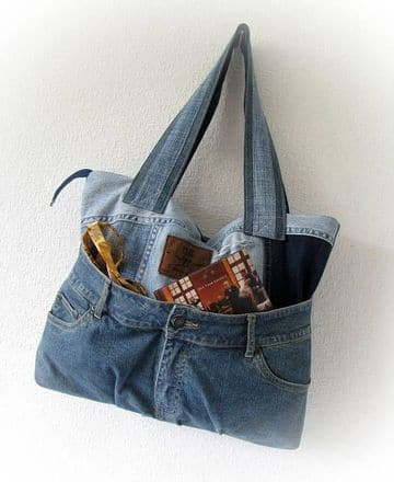 como hacer bolsos de jeans sencillos