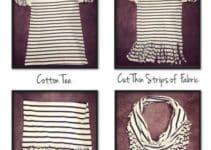 Como hacer bufandas de moda sencillas y con ropa que no uses