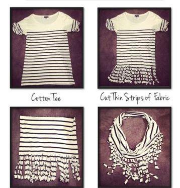 como hacer bufandas de moda con una camiseta