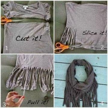como hacer bufandas de moda faciles