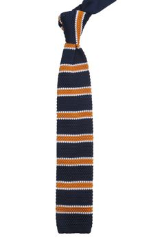 corbatas tejidas dos agujas a rayas