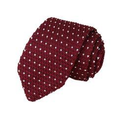 corbatas tejidas dos agujas estampadas