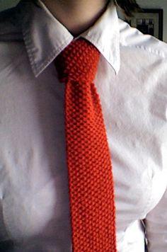 corbatas tejidas dos agujas unisex