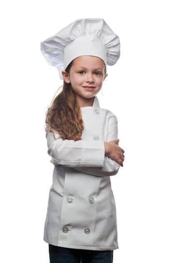 gorros de chef para niños clasicos