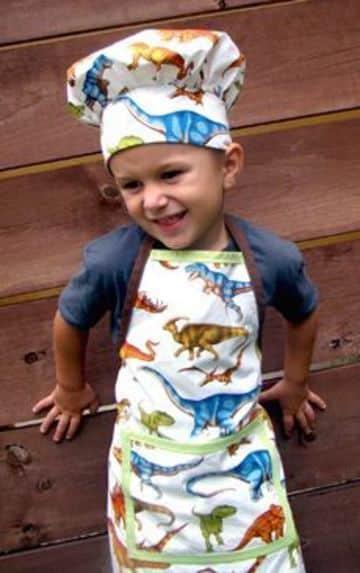 gorros de chef para niños con diseños infantiles
