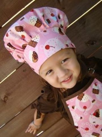 gorros de chef para niños estampados