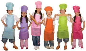 gorros de chef para niños unicolor