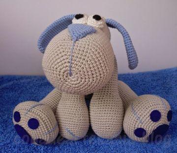 perros tejidos a crochet para dormir